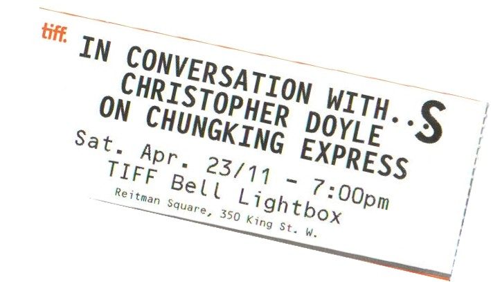 In Conversation with Christopher Doyle
